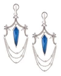 Stephen Webster | Diamond & Blue Agate Spike Chandelier Earrings | Lyst