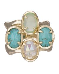 Kendra Scott - Blue Golden Marine Brady Stackable Rings - Lyst
