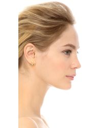 House of Harlow 1960 - Metallic Warrior Earrings - Gold/smokey Grey - Lyst