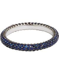 Sidney Garber - Blue Sapphire Thread Ring - Lyst