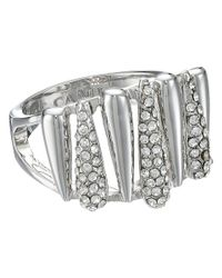 Vince Camuto | Metallic Silver Springs Crystal Ring | Lyst