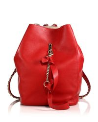 Jimmy Choo - Red Echo Backpack - Lyst