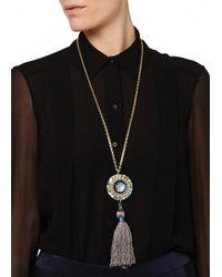 Matthew Williamson | Blue Jewelled Pendant Necklace | Lyst