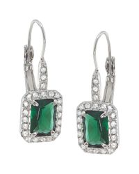 Carolee | Green Simply Emerald Drop Pierced Earrings | Lyst