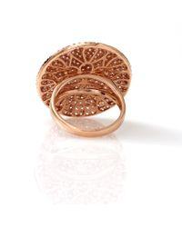 Dana Rebecca | Metallic Carly Michelle Diamond Pave Ring | Lyst