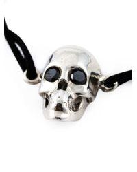 Leivan Kash | Black Diamond Eyes Skull Bracelet | Lyst