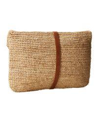 Hat Attack Natural Raffia Crochet Clutch