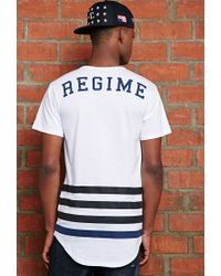 Forever 21 | White Civil League Drop Tee for Men | Lyst