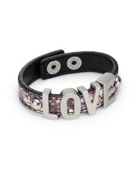 BCBGeneration - Metallic 'Love' Bracelet - Lyst