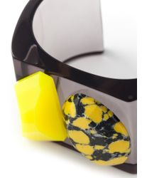 Stella McCartney - Yellow 'Mixed Stones Plexi' Cuff - Lyst