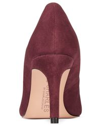 Charles by Charles David | Purple Lesslie Suede Pumps | Lyst