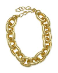 Kenneth Jay Lane | Metallic Gold Chain Link Necklace | Lyst