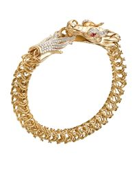 John Hardy | Metallic Batu Naga 18k Diamond & Ruby Dragon Bracelet | Lyst
