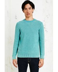 Native Youth - Waffle Knit Sweater in Sea Green for Men - Lyst