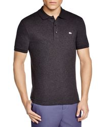 Lacoste | Black Stretch Slim Fit Polo for Men | Lyst