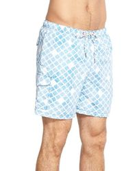 Tommy Bahama | Gray 'naples - Shell Of A Good Time' Swim Trunks for Men | Lyst
