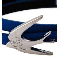 McQ | Blue Swallow Triple Wrap Bracelet | Lyst