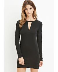 Forever 21 | Black Contemporary Cutout Bodycon Dress | Lyst