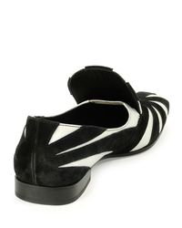 Tomas Maier - Black Suede & Leather Slip-on Loafer - Lyst