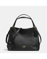 COACH - Black Edie 28 Leather Shoulder Bag  - Lyst