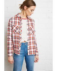 Forever 21 | Red Tartan Plaid Shirt | Lyst