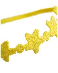 ASOS - Yellow Limited Edition Star Crochet Bracelet Or Anklet - Lyst