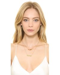 Serefina - Metallic Imitation Pearl Crystal Layered Necklace - Pearl/Gold - Lyst