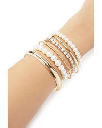 Forever 21 - Metallic Faux Pearl Bracelet Set - Lyst