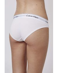 TOPSHOP | White Modern Cotton Bikini Briefs By Calvin Klein | Lyst