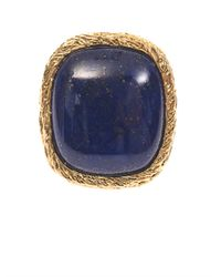 Aurelie Bidermann - Blue Miki Lapis And Gold-Plated Ring - Lyst