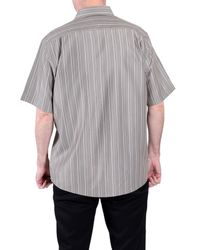 Double Two | Brown Stripe Classic Fit Classic Collar Shirt for Men | Lyst