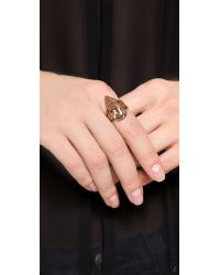 Pamela Love - Pink Mini Arrowhead Ring - Lyst
