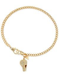 Guess | Metallic Gold-tone Pavé Whistle Charm Necklace | Lyst