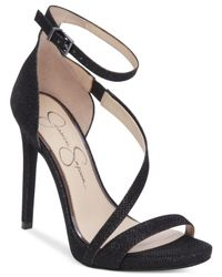 Jessica Simpson | Black Rayli Evening Sandals | Lyst