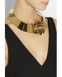 By Malene Birger - Metallic Erykah Goldplated Resin Necklace - Lyst
