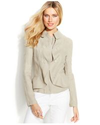 INC International Concepts - Natural Layered Double-Breasted Linen Jacket - Lyst