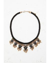 Forever 21 | Black Twisted Triangle Statement Necklace | Lyst