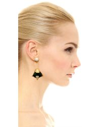 Lizzie Fortunato - Metallic Tropical Bloom Earrings - Lyst