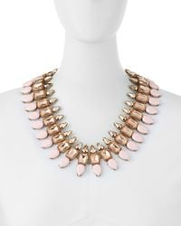 Panacea | Pink Rose Statement Collar Necklace | Lyst