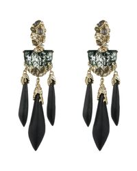 Alexis Bittar | Black Imperial Crystal Lace Chandelier Clip Earring | Lyst