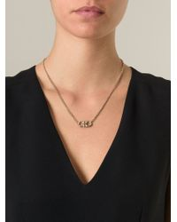 Ferragamo | Metallic Gancini Pendant Necklace | Lyst