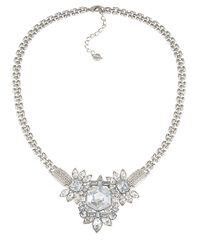 Carolee - Metallic Newport Nouveau Crystal Cluster Necklace - Lyst