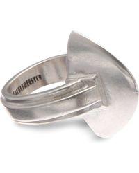 Ann Demeulemeester | Metallic Sterling Silver Bullet Ring | Lyst