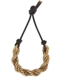 Lanvin | Metallic Gold And Black Katoucha Chain Necklace | Lyst
