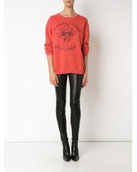 Enfants Riches Deprimes - Orange Logo Print Sweatshirt - Lyst