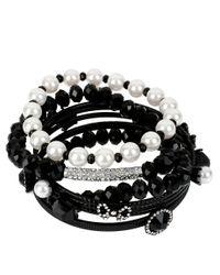 Betsey Johnson - Black Assorted Bracelet Set - Lyst