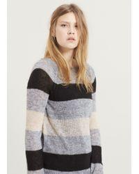 Violeta by Mango | Blue Mohair-blend Sweater | Lyst