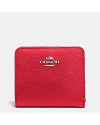 COACH | Red Small Wallet In Colorblock Leather | Lyst