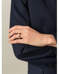 Chloé - Metallic 'darcey Fine' Ring - Lyst