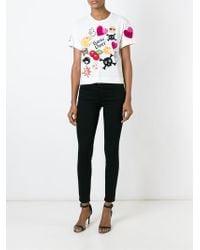 Philipp Plein | White Stones T-shirt | Lyst